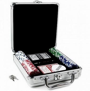 Купить Покерный набор Johnshen Sports 100 фишек по 11.5 г (алюминиевый кейс)