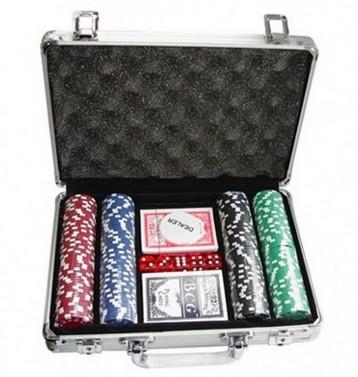 Купить Покерный набор Johnshen Sports 200 фишек по 11.5 г (алюминиевый кейс)