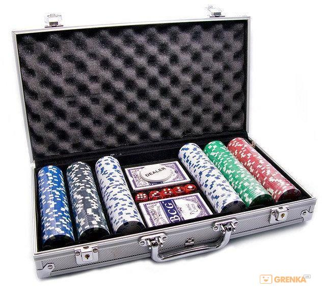 Купить Покерный набор Johnshen Sports 300 фишек по 11.5 г (алюминиевый кейс)
