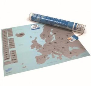 Подарок Скретч карта Европы на английском языке (top-260)