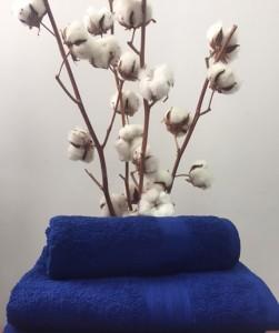 Полотенце махровое  30х50 см синий