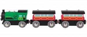 Паровозик 3 вагона Hape 'Пассажирский' (E3719)