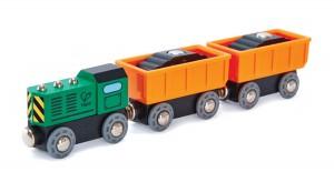 Паровозик 3 вагона Hape 'Товарный поезд' (E3718)