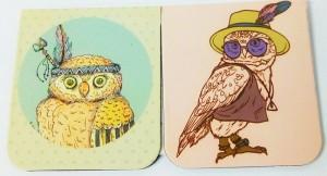 фото Набор магнитных закладок 'Гламурные совы' (2 шт.) #2