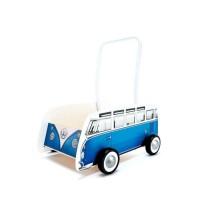 Игрушка-каталка Hape 'Классический автобус' синий (E0381)