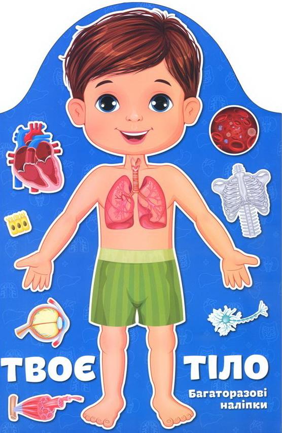 Купить Твоє тіло. Хлопчик. Багаторазові наліпки, Колектив авторів, 978-617-7460-01-4