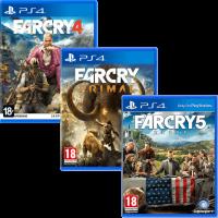 игра 'Far Cry 4' + 'Far Cry Primal' + 'Far Cry 5' (суперкомплект из 3 игр для PS4)
