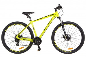 Велосипед 29'' Leon TN-80 AM Hydraulic lock out 14G HDD рама-21'' Al желтый акцент с черным (OPS-LN-29-032)