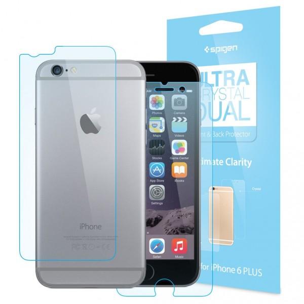 Купить Набор защитных пленок Spigen Screen Protector Steinheil Dual Ultra Crystal (Front&Back) for iPhone 6/6S (SGP11586)