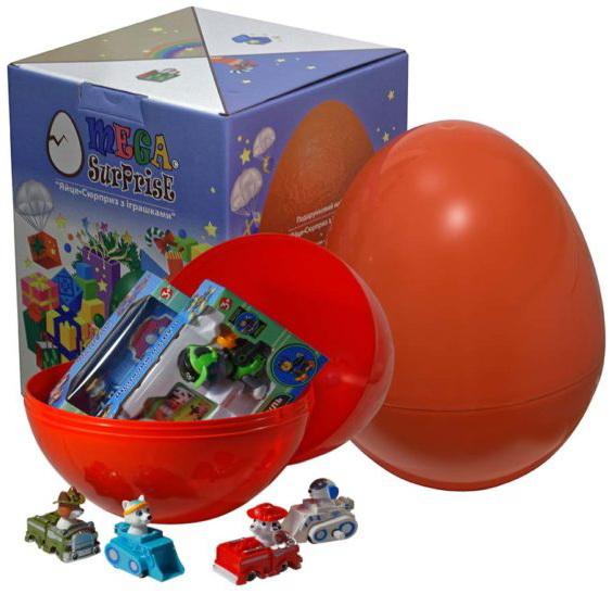Купить Яйцо-сюрприз с игрушками 'Щенячий патруль', Megasurprise
