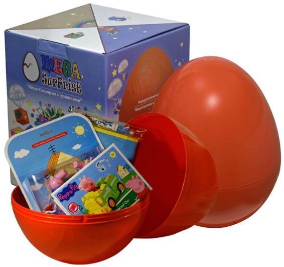 Купить Яйцо-сюрприз с игрушками 'Свинка Пеппа' (для мальчика), Megasurprise