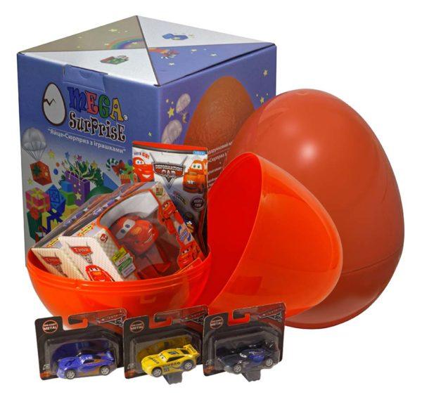 Купить Яйцо-сюрприз с игрушками 'Тачки', Megasurprise
