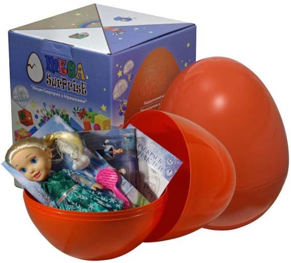 Купить Яйцо-сюрприз с игрушками 'Холодное сердце', Megasurprise
