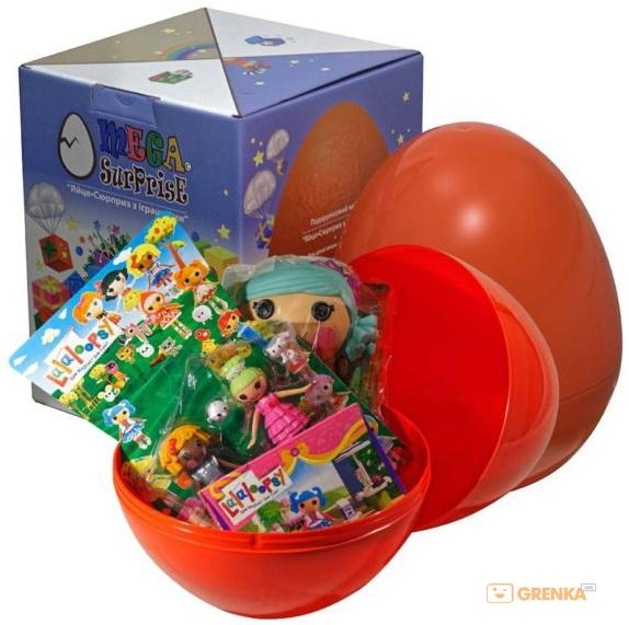 Купить Яйцо-сюрприз с игрушками 'Лалалупси', Megasurprise
