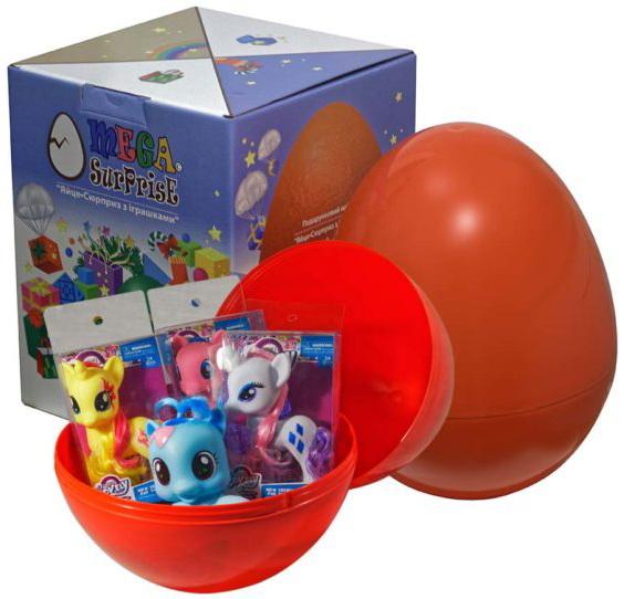 Купить Яйцо-сюрприз с игрушками 'Пони', Megasurprise