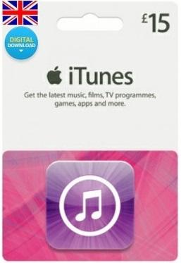 Купить Скан карты iTunes £15 GBP UK (Великобритания)