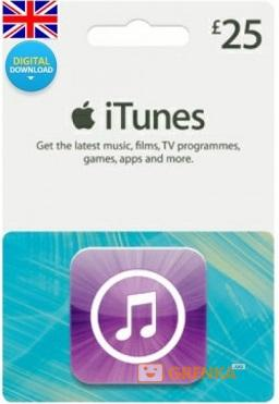 Скан карты iTunes £25 фунтов UK (Великобритания)  - купить со скидкой