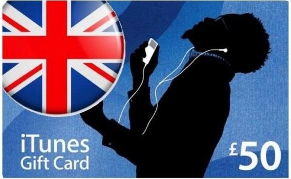 Купить Скан карты iTunes £50 GBP UK (Великобритания)