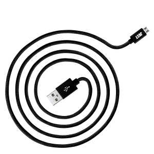 JUST Copper Micro USB Cable 1,2M Black (MCR-CPR12-BLCK)