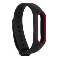 Ремешок для фитнес-браслета Xiaomi Mi Band 2 M2 Black/Red