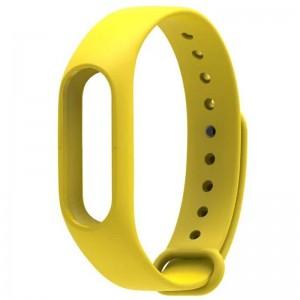 Ремешок для фитнес-браслета Xiaomi Mi Band 2 Yellow (Лицензия)