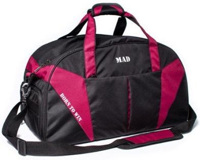 Купить Сумка MAD Cross Porter, черно-бордовая (SCP03)