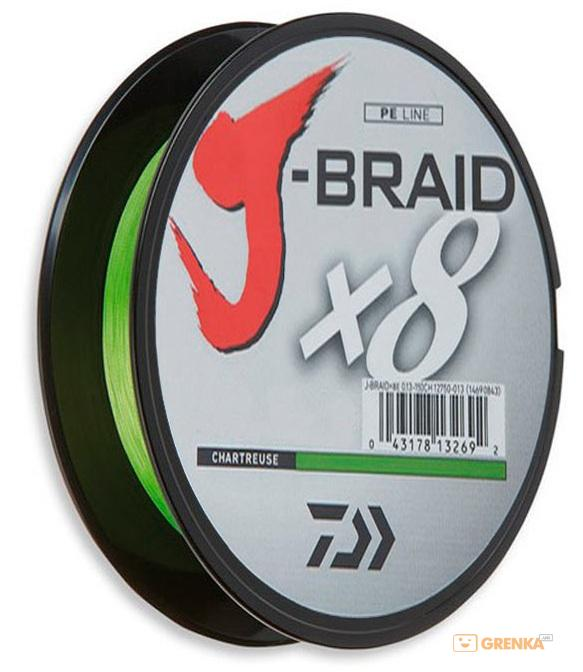 Купить Шнур Daiwa J-Braid X8 0, 06mm 150m chartreuse (12750-006)