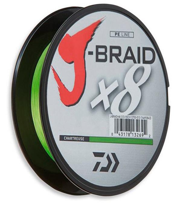 Купить Шнур Daiwa J-Braid X8 0, 10mm 150m chartreuse (12750-010)