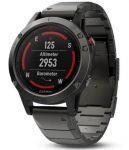 Смарт-часы Garmin Fenix 5x GPS Sapphire Slate Gray Metal Band (010-01733-03)