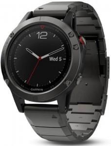 Смарт-часы Garmin Fenix 5 Slate Gray Sapphire with Metal Band (010-01688-21)