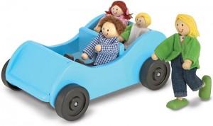 Игровой набор Melissa&Doug 'Дорожная машинка с куклами' (MD2463)