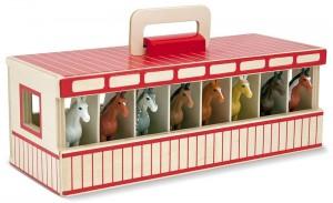 Игровой набор Melissa&Doug 'Переносная конюшня с лошадками' (MD13744)