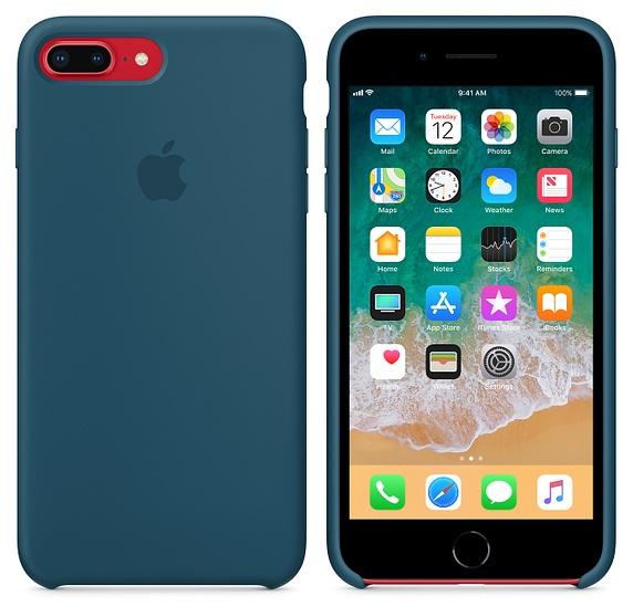 Купить Чехол для смартфона Apple iPhone 8 Plus / 7 Plus Silicone Case - Cosmos Blue (MR6D2)