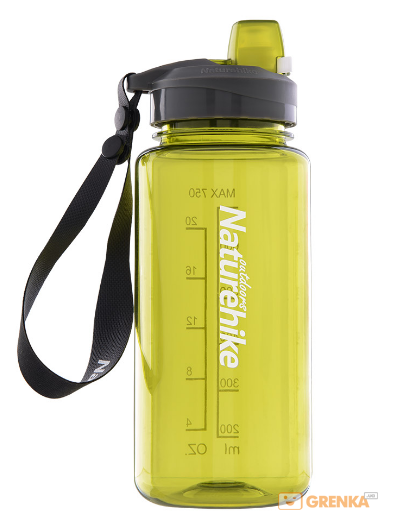 Купить Фляга спортивная NatureHike 'Sport bottle' 0, 75л желтая (NH17S010-B)