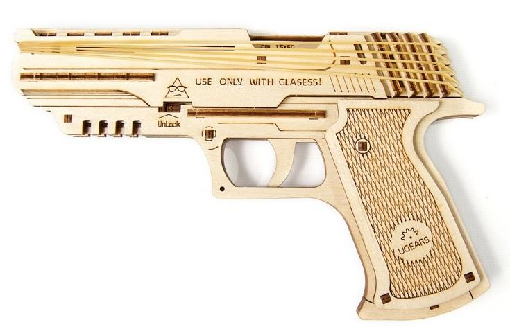 Купить Механический 3D пазл Ukrainian Gears 'Пистолет Вольф-01' (70047)