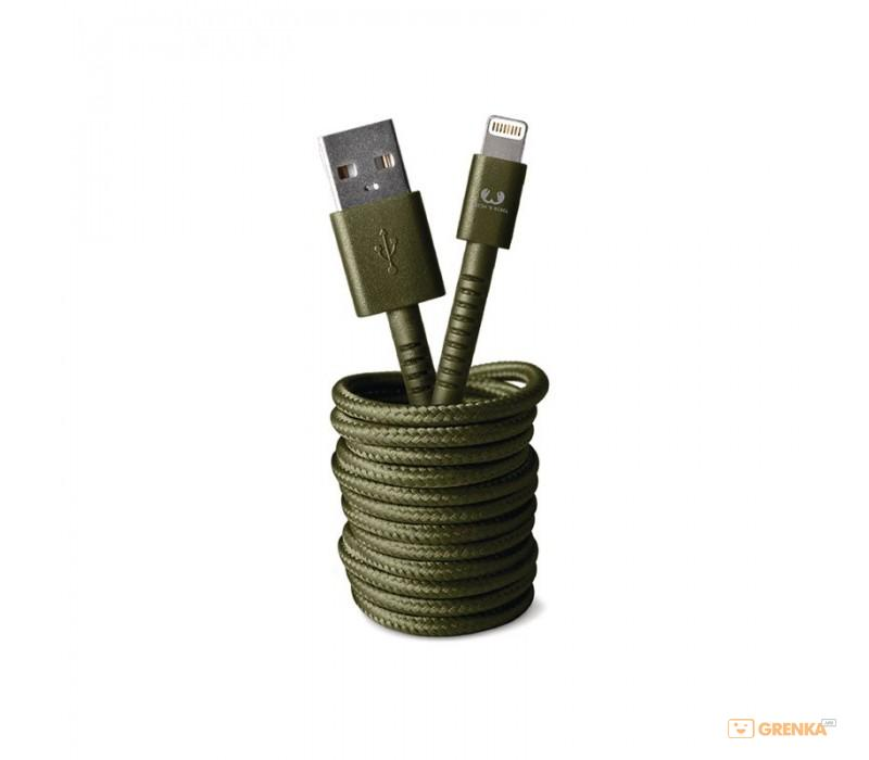 Купить Кабель Fresh 'N Rebel Fabriq Lightning Cable 3m Army (2LCF300AR), Fresh N Rebel