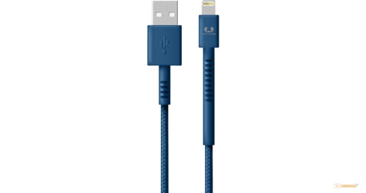 Купить Кабель Fresh 'N Rebel Fabriq Lightning Cable 3m Indigo (2LCF300IN), Fresh N Rebel