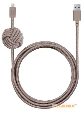 Купить Кабель Native Union Night Cable Lightning Taupe (3 m) (NCABLE-KV-L-TAU)