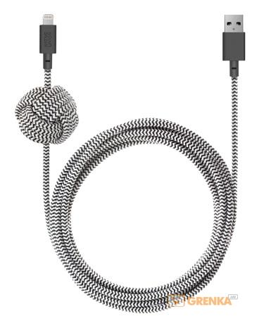 Купить Кабель Native Union Night Cable Lightning Zebra (3 m) (NCABLE-KV-L-ZEB)