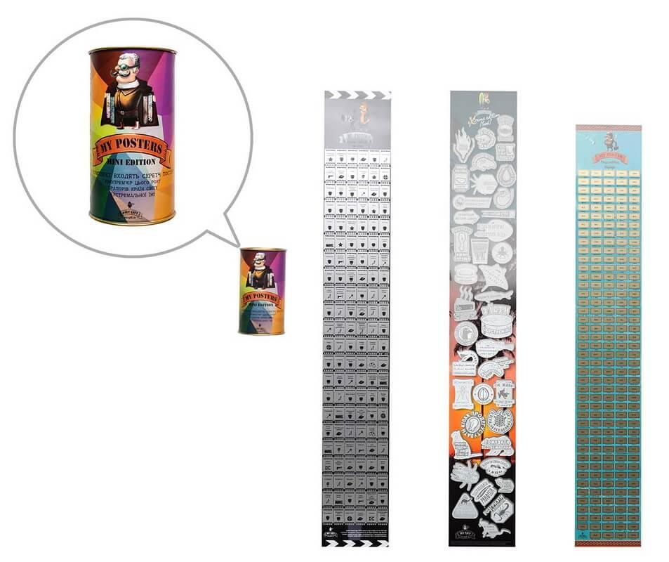 Купить Набор мини-постеров на холодильник My Posters Mini edition, My Map