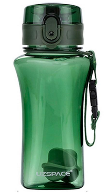 Купить Бутылка для воды спортивная Uzspace (350ml) зеленая (6005GN)