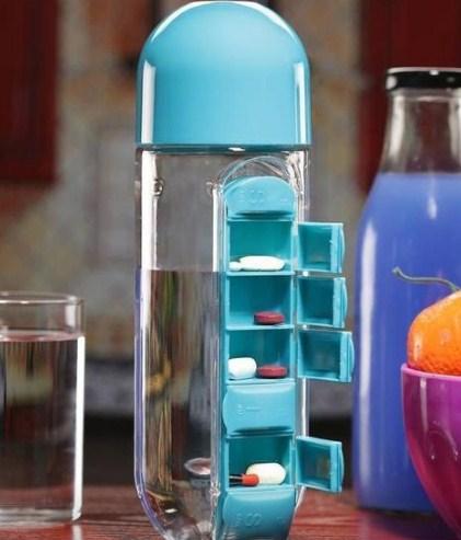 Купить Бутылка для воды Pill Vitamin Water Bottle Blue (top-551), China Factory