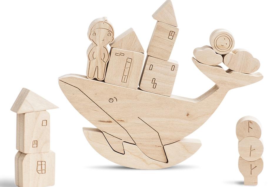Купить Развивающая Игра для детей Babai Балансир 'Шапочка и кит' (babai-hat&whale)