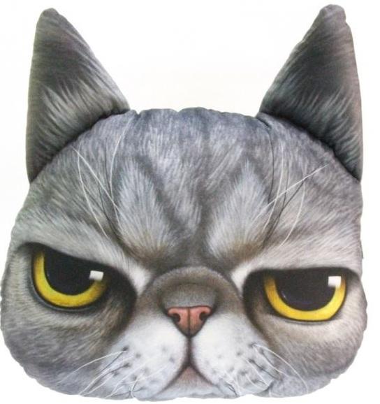 Купить Большая 3D подушка Кот Кузя (p-11), Toyko