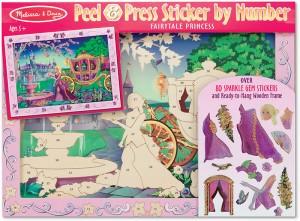 Объемная наклейка по номерам Melissa&Doug 'Сказочная принцесса' (MD4009)