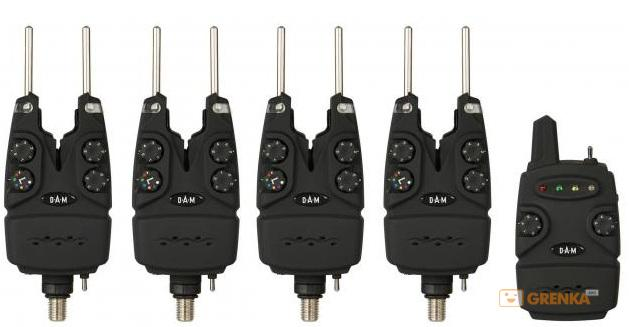 Набор сигнализаторов в кейсе DAM Multi-Color Wireless Alarm Set 4+1 (52399)  - купить со скидкой