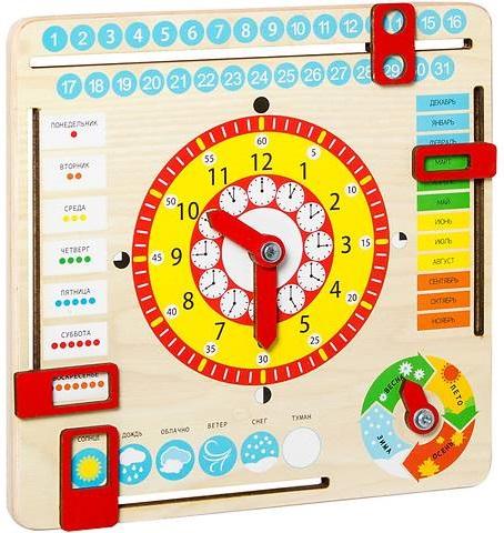 Купить Игра развивающая Master Wood 'Часы и календарь' (KD2_UA), Мастер Вуд