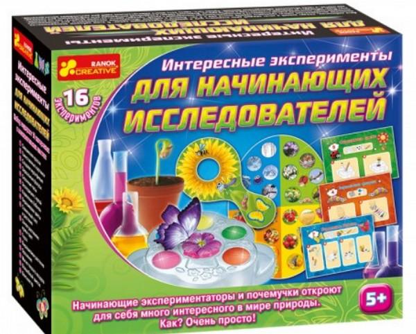 Купить Набор для экспериментов 'Интересные эксперименты для начинающих исследователей ' (12114076Р), Ранок