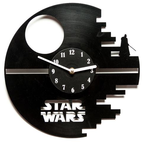 Купить Настенные часы из винила 'Star Wars: Death Star' (V 136), Handmade