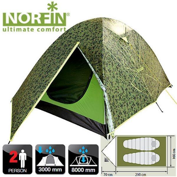 Купить Палатка 2-х местная Norfin COD 2 (NC-10102)